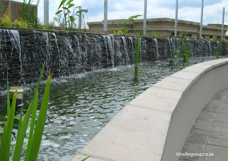 Water feature design at Nestlè, South Africa, by Insite landscape architects.