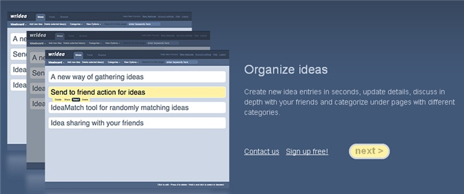 Wridea is a web service that helps teachers and students remember ideas, organize them, and improve on them by allowing other people to collaborate and brainstorm with them.  The site is very easy to use and is free.  It can be helpful for class projects, research, or for teachers or teams of teachers trying to gather materials for their classrooms or a specific topic of study.
