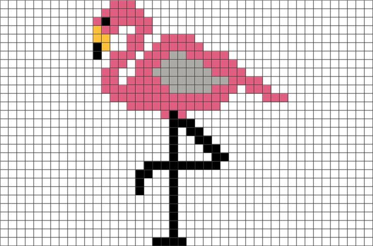 Flamingo Pixel Art from BrikBook.com #Flamingo #Animal #Bird #pixel #pixelart #8bit Shop more designs at http://www.brikbook.com