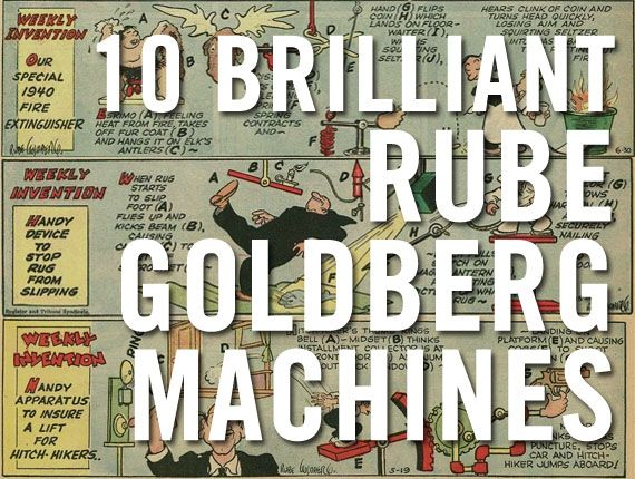 This may be a great ongoing group display project for Fizz Boom Read! 10 Brilliant Rube Goldberg Machines.