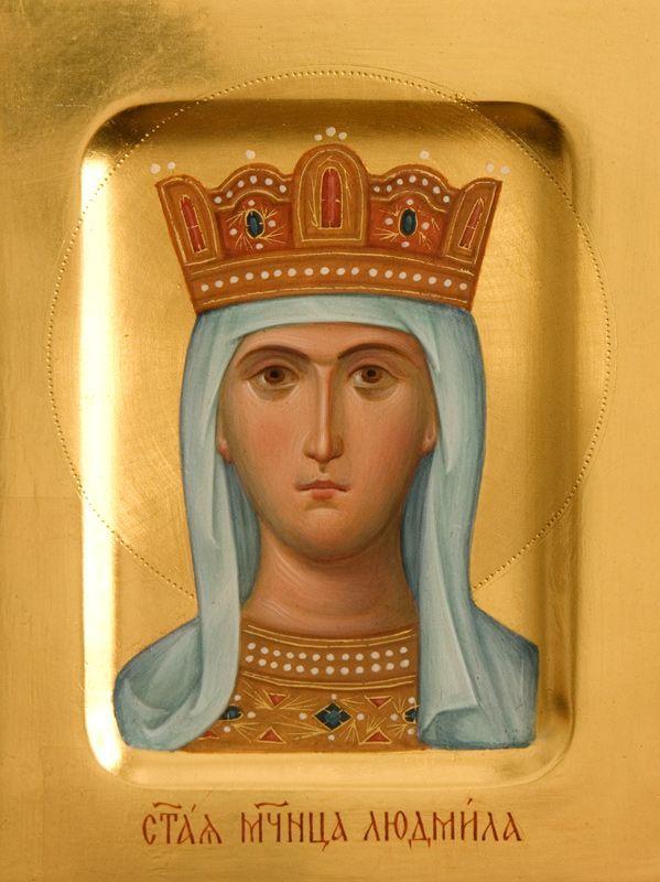 Icon of St Ludmila of Bohemia