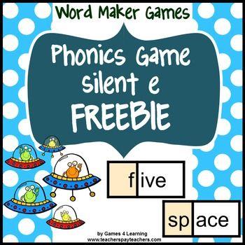 Phonics Game Silent e Freebie