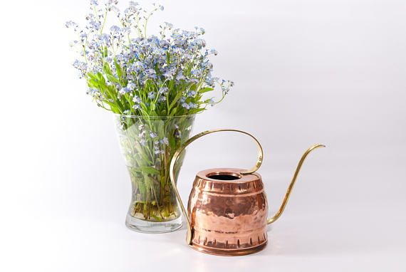 COPPER WATERING CAN rustic watering can modern watering can