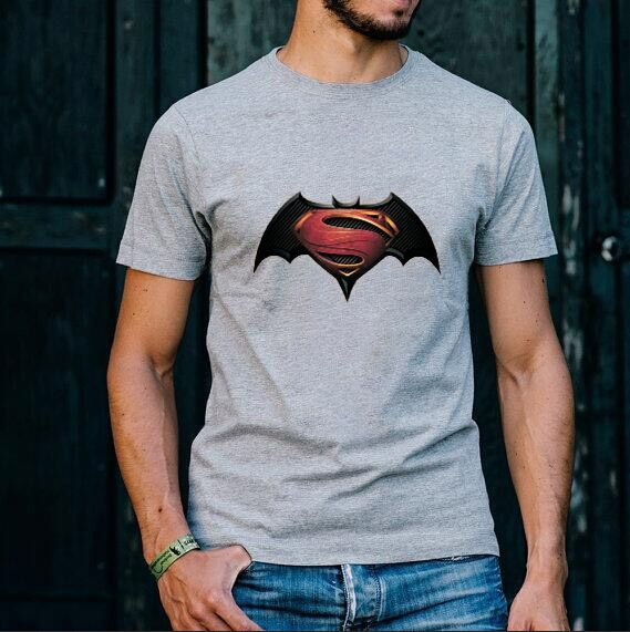 2017 New Fashion Spiderman Superman T Shirt Short Sleeve Casual t shirt superhero tops tees free shipping
