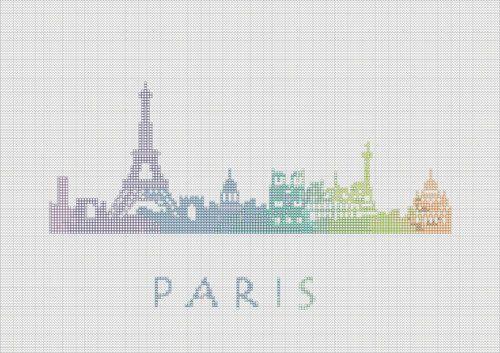 BOGO Cross Stitch Pattern Paris France por ZGCROSSSTITCHPATTERN