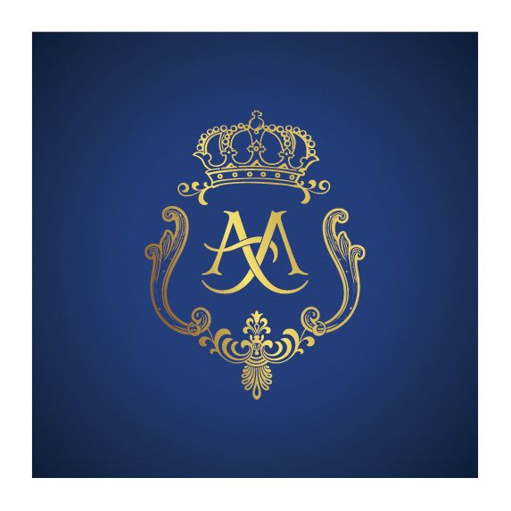 #Wedding #monogram with #crown