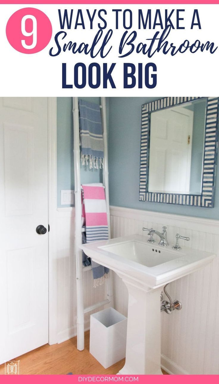 9 Ways To Make A Small Bathroom Look More Spacious That You Need For Your Bathroom Including The Best Wal Small Bathroom Small Half Bathrooms Bathroom Makeover