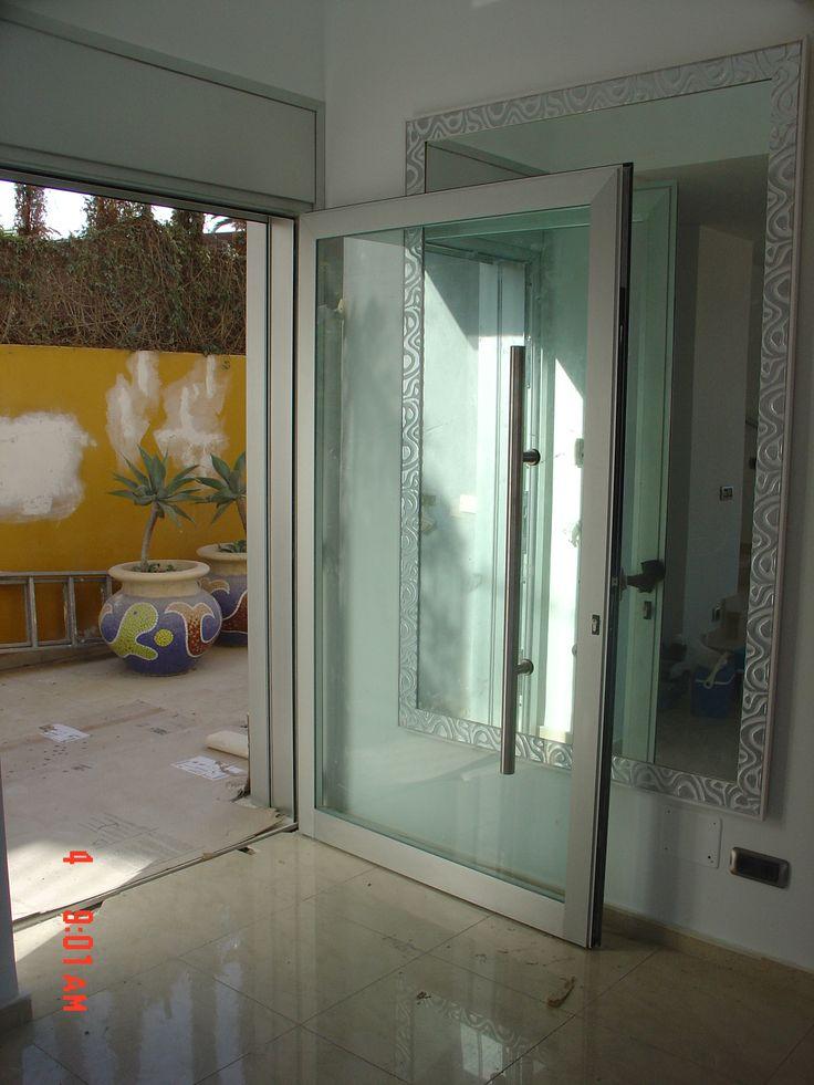 10 best puertas aluminio images on pinterest shades - Puertas de aluminio con cristal ...