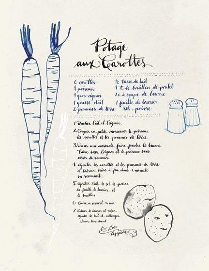 Potage aux Carottes, evajuliet via Etsy.