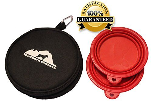 Northern Outback Travel Pet Bowl Kit. Professional Poly 600D Carrier with two collapsible Silicone Bowls and a BONUS Carabiner. Top Quality hands free portability. The BEST choice for your pet! Northern Outback http://www.amazon.com/dp/B01378KPYM/ref=cm_sw_r_pi_dp_Bu9jwb03W0YHX
