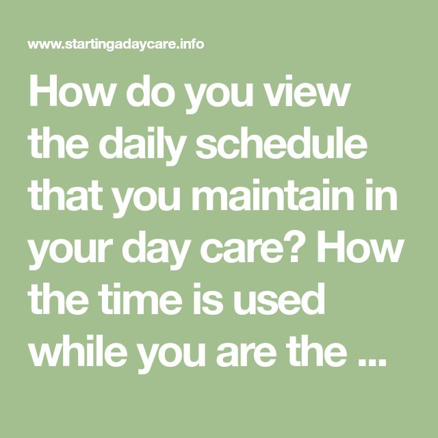 How Do You View The Daily Schedule That You Maintain In