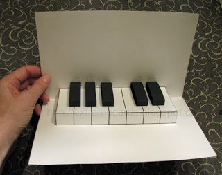 Easy piano pop up card with free template