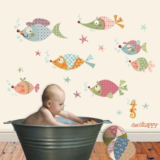 Fishes Wall Decal Decohappy. // Vinilos Decorativos De