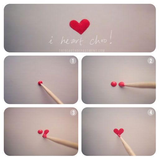 How to make a heart on your nails!