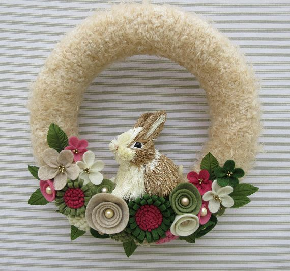 Bunny Wreath Rabbit Wreath Sisal Bunny Wreath Easter Bunny