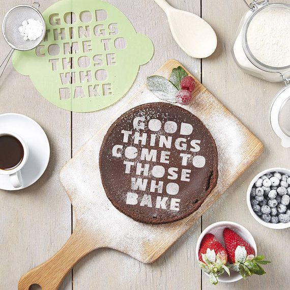 Those Who Bake Cake Stencil by SophiaVictoriaJoyLtd on Etsy