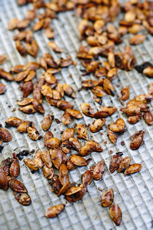 How to roast your own pumpkin seeds for topping soups etc.  |  The Food Fox