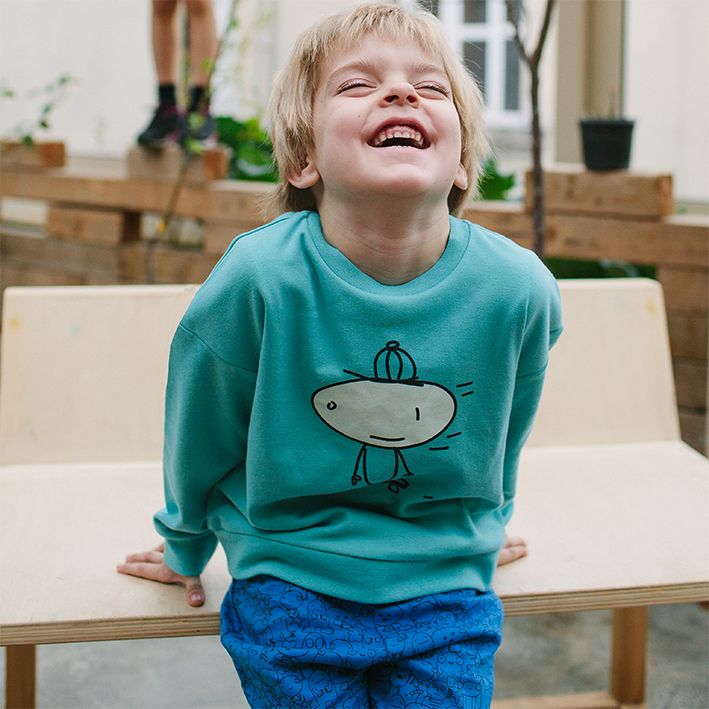 WAKAMONO SS15 doodle boy jumper + shorts https://waka-mono.com/en/product/1024/tommy-jumper/
