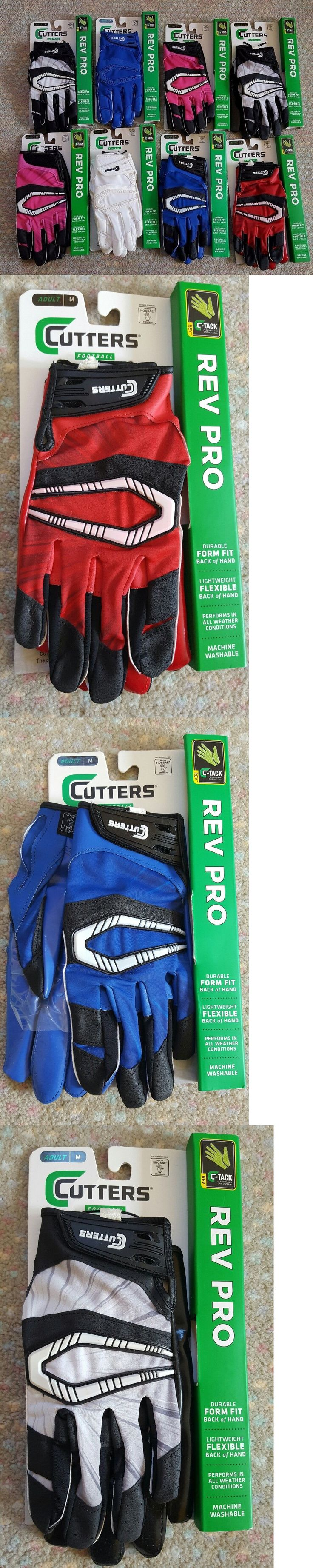 Gloves 159114: Cutters S450 Rev Pro C-Tack Mens Football Receiver Gloves Adult Sz M L Xl New ! -> BUY IT NOW ONLY: $39.95 on eBay!