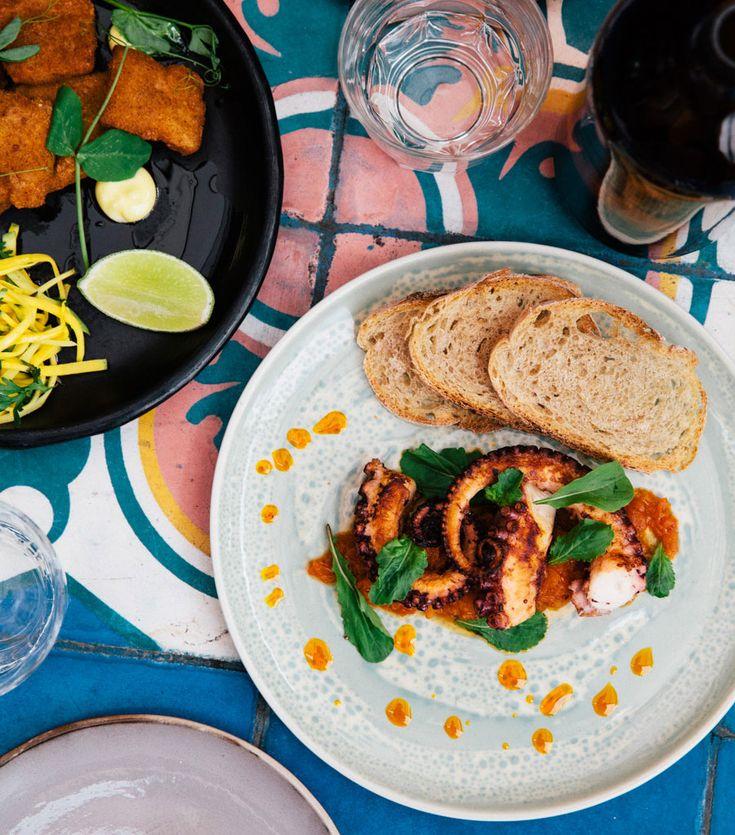 Salvo Patria.   A Bogota neighborhood favorite, Alejandro Gutiérrez's spot is a place to linger over lunch. The order: calamar pota apanado (fried calamari), plus whatever's on the specials list.
