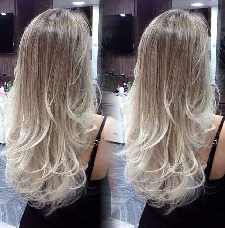 Blonde hair /long/platinum/cabelo loiro