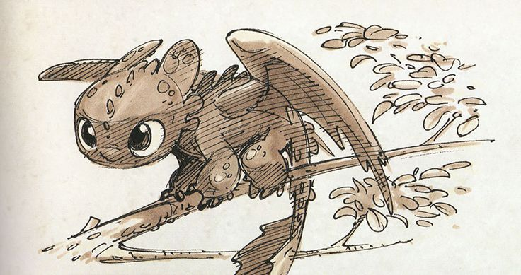 How to Train Your Dragon 2 writer/director Dean DeBlois' sketches of Hiccup and Toothless.