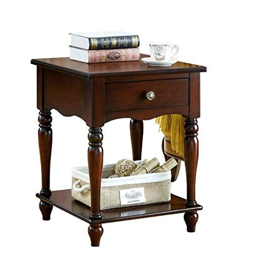 Fyong Sofa Side Table Living Room End Table Drawer Small Square