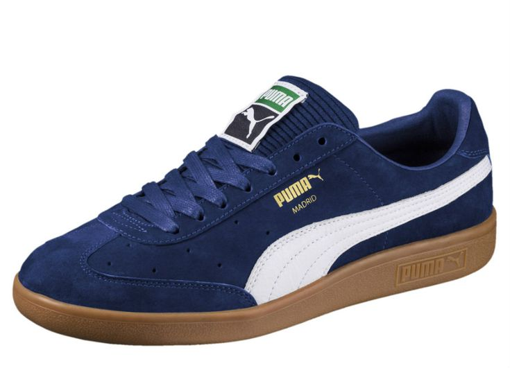 #football #soccer #futbol #fussbal Puma Madrid Lux Trainers - Blue Depths / White / Gold