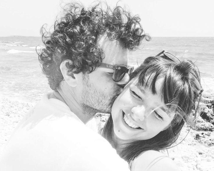 Happy in love.