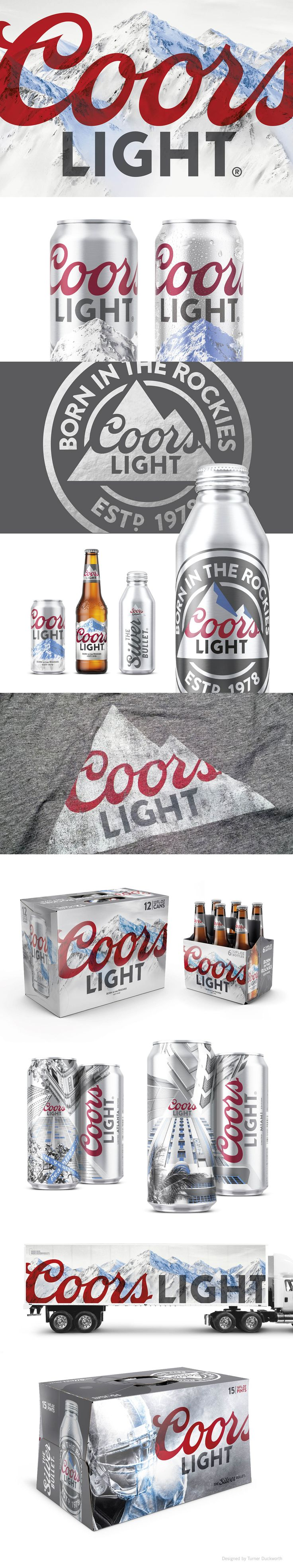 Coors Light Visual Identity. Design by Turner Duckworth.