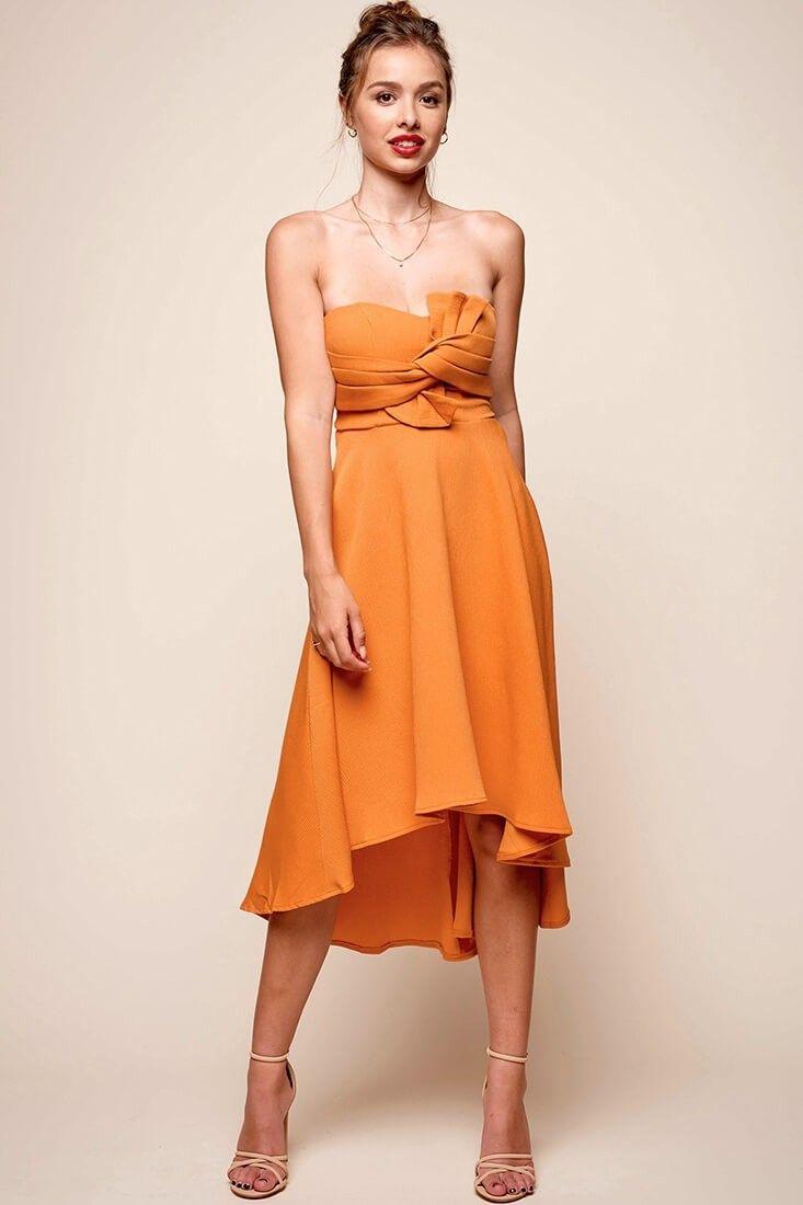Monogram Strapless Midi Dress Mango Strapless Midi Dress Dresses Midi Dress [ 1100 x 733 Pixel ]