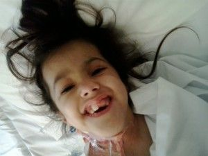 Such a brave little girl with so much energy for life.