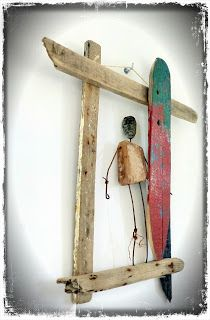 http://mutozinc.blogspot.fr/ surf art, driftwood and upcycling