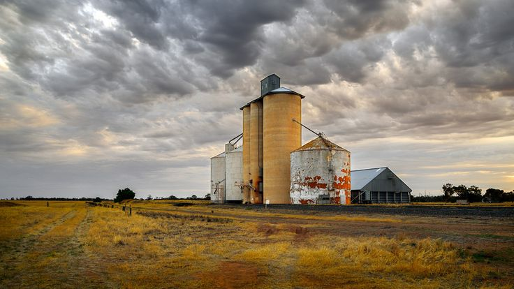 https://flic.kr/p/FmVPzb | Silos at Lah | Evening at the Lah silos, north of Warracknabeal, Victoria, Australia