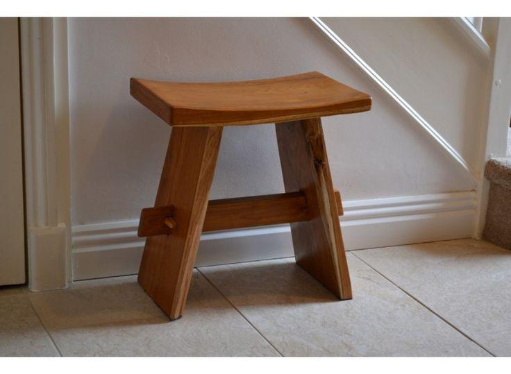 teak shower stool dark size h47 x w27 x d45cm