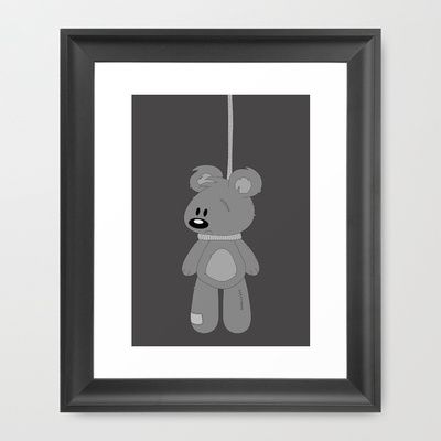 hanging out Framed Art Print by The Ghost and Robot - $33.00