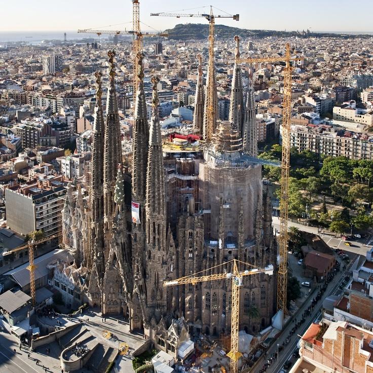Aèries, Aéreas, Aerial View   Basílica de la Sagrada Família