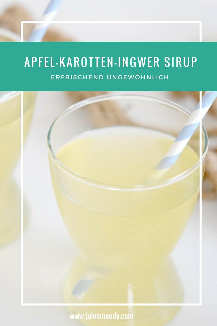 Erfrischend ungewöhnlich ist dieses Sirup Rezept für Apfel-Karotten-Ingwer Sirup! Nicht nur ein Highlight auf der Ostertafel!
