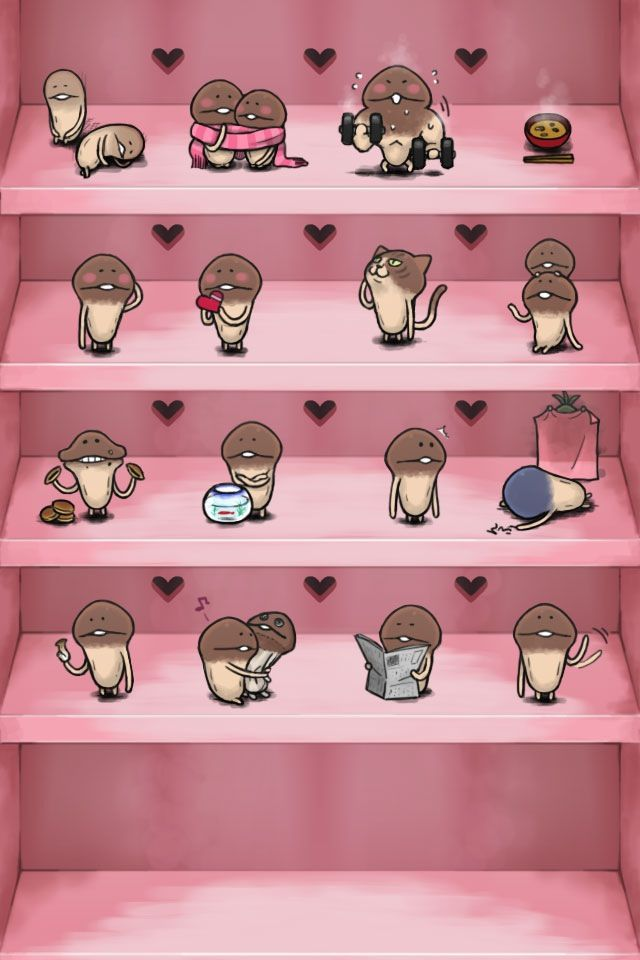 Nameko Shelf Iphone 4 Icon Wallpaper