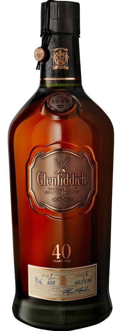 Glenfiddich continues as the leader in fine single malt Scotch whiskies with this 40 Year Old
