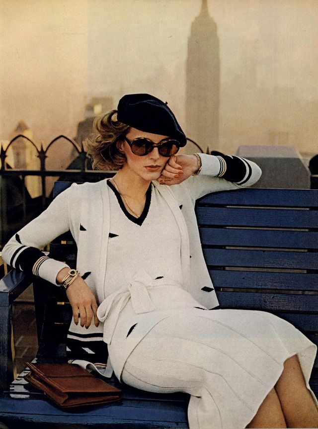 Vogue Editorial New York Spring Collections, February 1974 ANNE HOLBROOK IN ADOLFO BY CHRIS VON WANGENHEIM