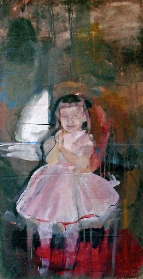 "Geraldine Swayne, Unknown (oil on canvas - 2009 - 2""x4' aprox)"