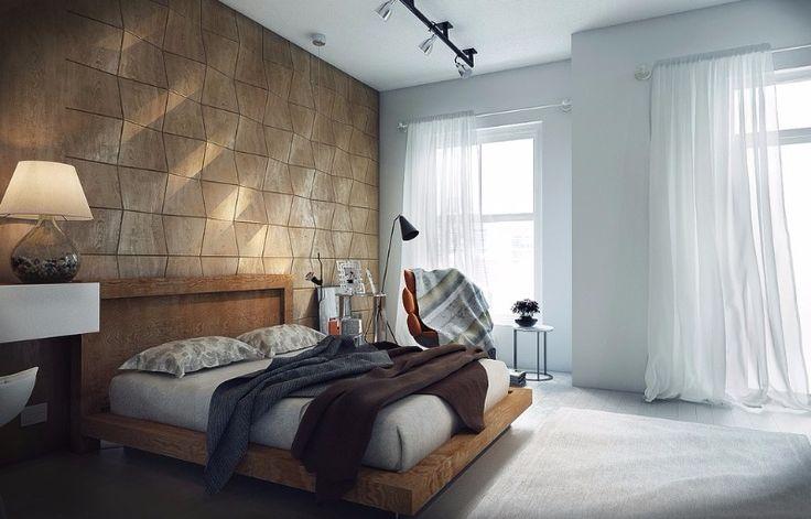 Industrial style bedroom design