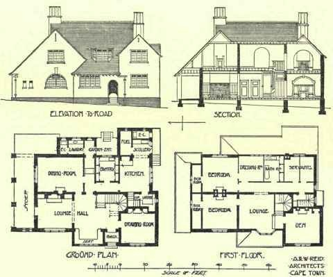36 best Plans images on Pinterest | Home plans, Vintage homes and ...