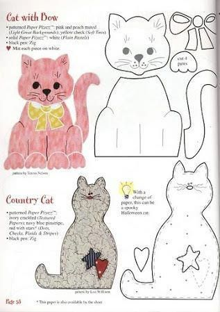 Cat patterns to appliqué