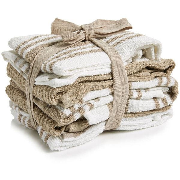 Wilko Tea Towels Natural and White 5pk (£4) ❤ liked on Polyvore featuring home, kitchen & dining, kitchen linens, cotton kitchen towels, white cotton kitchen towels, cotton tea towels, white cotton tea towels and white tea towels