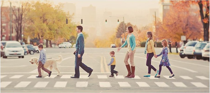 Family crossing