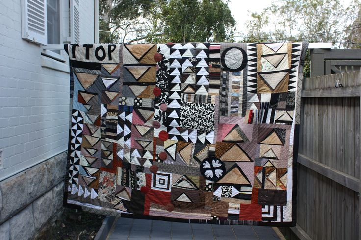 'Errant Geese' a quilt inspired by Picasso by Jess Wheelahan