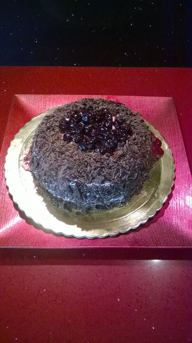 For my husband's 38 birthday!!!black forest homemade cake!!