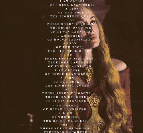 House Lannister #asoiaf #GoT #Lannister #Cersei